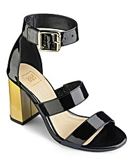 Sole Diva Block Heel Sandals EEE Fit