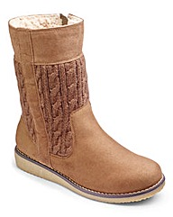 Gumtree Knit Detail Boots E Fit