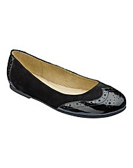 Sole Diva Brogue Ballerinas EEE Fit