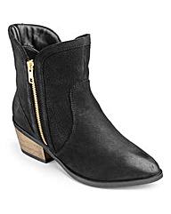 Sole Diva Zip Cowboy Ankle Boots E Fit