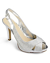Sole Diva Sparkle Slingbacks EEE Fit