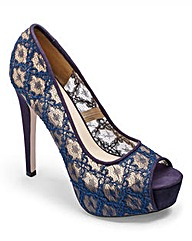 Little Mistress Lace Platform Shoe D Fit