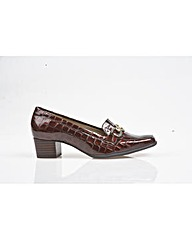 Edendale - Brown Patent Croc Shoe