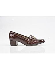 Van Dal Edendale-Brown Patent Croc Shoe