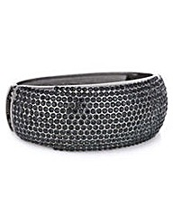 Mood Black pave domed bangle