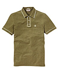 Penguin Earl Olive Polo Shirt Long
