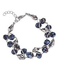 Mood Blue beaded twist bracelet