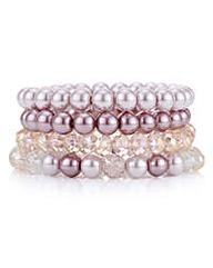 Mood Pink tonal pearl bracelet pack