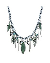Mood Green navette rope necklace