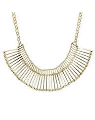 Mood Gold bar section choker necklace