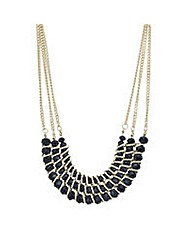 Mood Black crystal bar necklace