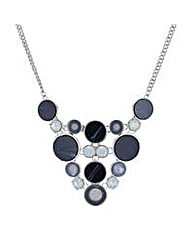 Mood Blue circle stone necklace