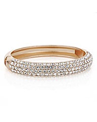 Mood Rose gold crystal pave bangle