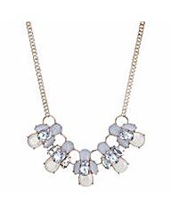 Mood Rose gold crackle crystal necklace