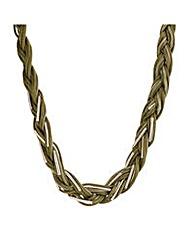 Mood Khaki plaited necklace