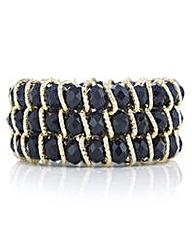 Mood Black crystal bar bracelet
