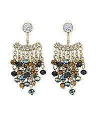 Mood Metallic bead drop earring