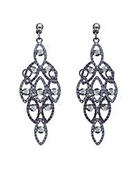 Mood crystal layered chandelier earring