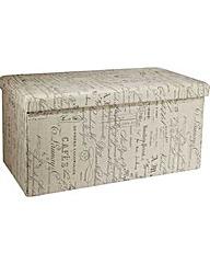 Large Fabric Ottoman - Script.
