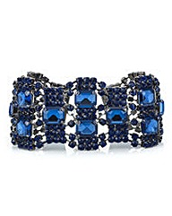 Mood Blue crystal diamante loop bracelet