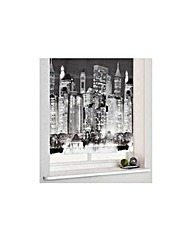 4ft New York Skyline Roller Blind -Black
