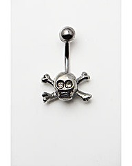 Skull and Bones Navel Bar
