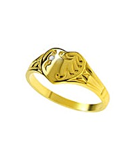 Gold Plated Silver and Diamond Ring