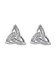Sterling Silver 0.01Ct CZ Earrings