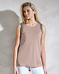 Embellished Shoulder Vest
