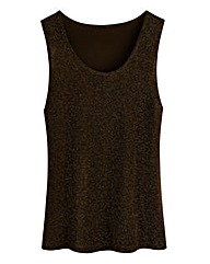Jersey Vest with Metallic