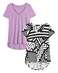 Pack of 2 V-Neck Swing Tops