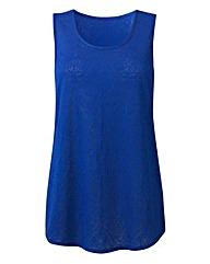 Cobalt Jersey Jacquard Vest
