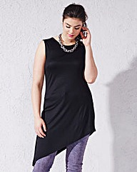 Sleveless High Split Asymmetric Top