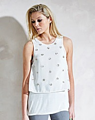 Double Layer Embellished Top