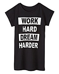 Work Hard Dream Harder Logo T Shirt