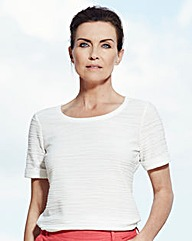 Ripple Boat-Neck Jersey Top