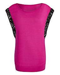 Sequin-Trim Top