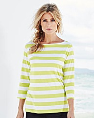 Pack Of 2 Boat-Neck Jersey Top