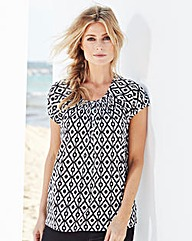 Pack of 2 Short-Sleeve Gypsy Tops