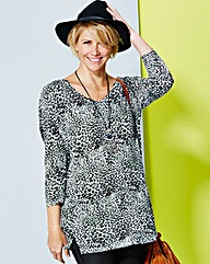 V-Neck Slouch Tunic - Double Trim
