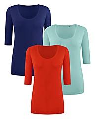 Pack Of 3 Basic T-Shirts