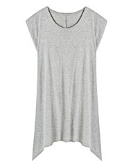 Dipped Hem Jersey Top