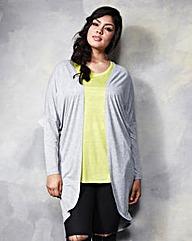 Light Grey Marl Jersey Viscose Kimono