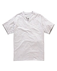 Jacamo White Layered T-Shirt Long