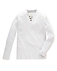 Jacamo White Long Sleeved Layered Tee R