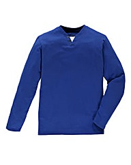 Jacamo Cobalt Long Sleeved Layered Tee R