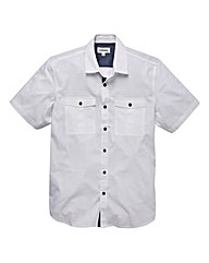 Jacamo Short Sleeve White Military Shirt