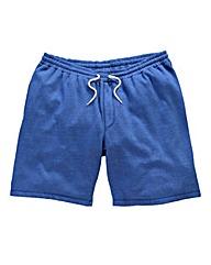 Jacamo Blue Marl Fleece Shorts