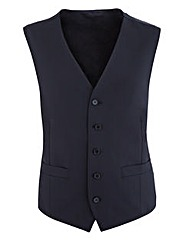 Flintoff By Jacamo Blue Black Waistcoat