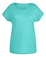 Spearmint Jersey Jacquard Top